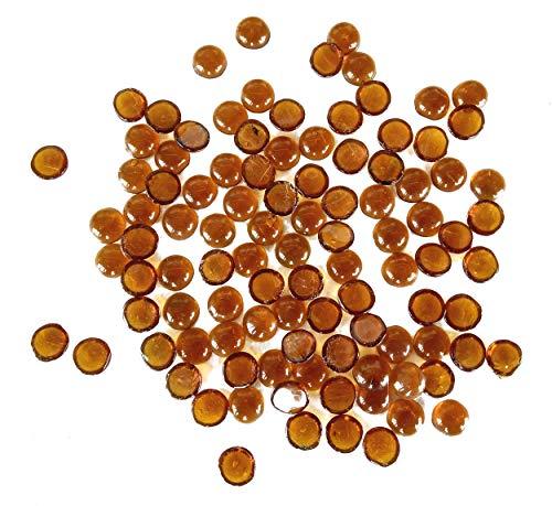 Rastogi-Lot de 100 pierres en verre pour remplissage de vases, décoration de mariage, une face plate (10 mm)