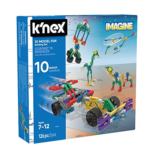 K'Nex- Grandi Giochi-10 Model Fun, Multicolore, GG01703
