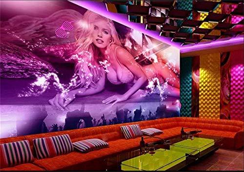 450x310cmHD Murales Papel tapiz Murales para paredes Murales para dormitorios, papel tapiz 3d Foto personalizada Etiqueta de pared no tejida DJ Discoteca KTV Hotel Sofá Fondo Mural de pared Papel