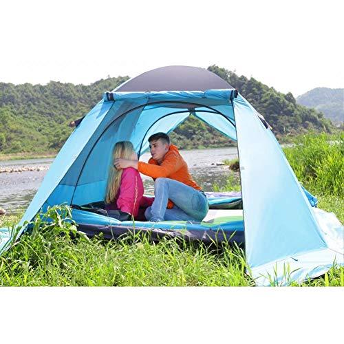 ZZPEO Tente en Aluminium Imperméable De Famille De Doubles Couches De Polonais en Aluminium Double De Personne 4, Grande Tente De Camping