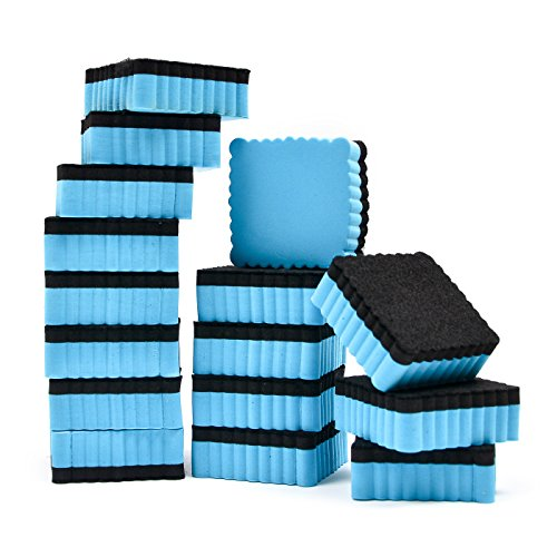 """16-Pack 2"""" x 2"""" Mini Dry Erasers Magnetic Whiteboard Erasers for Classroom, Home and Office"""