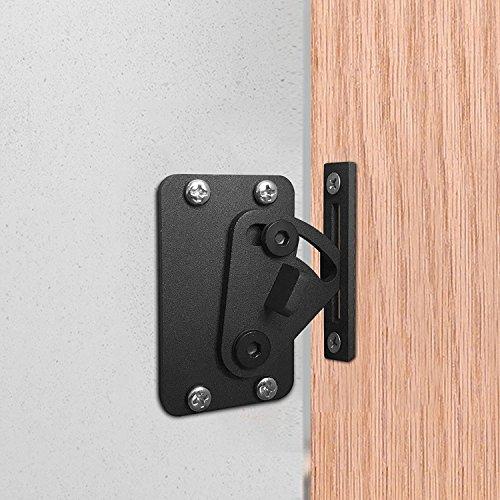 Roestvrij stalen slot voor schuifschuur deur hout deur zwart slot poort slot grendels, eenvoudig te installeren
