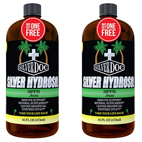 32 oz Total, Silver Doc Silver Hydrosol, Natural Alternative for Unwanted Microorganisms, More Effective Than Any Colloidal Product