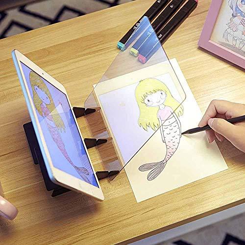 Goglor Sketch Wizard Optical Draw Projektor Malerei Tracing Board Gemälde Spiegel Platte Copy Pad Telefon Halter Panel Art Easy Drawing Tool Geschenk für Studenten Erwachsene Künstler Anfänger