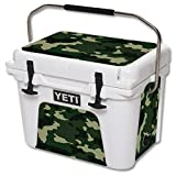 MightySkins (Cooler Not Included) Skin Compatible with YETI Roadie 20 qt Cooler wrap Cover Sticker Skins Green Camo