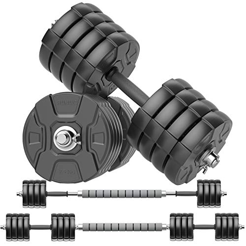 RUNWE Adjustable Dumbbells Barbell Set Free Weight Set with Steel Connector at Home/Office/Gym Fitness Workout Exercises Training AllPurpose for Men/Women/Beginner/Pro100 lbs2 Dumbbells in Total