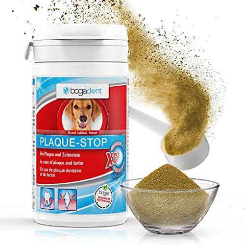 Bogadent Plaque-Stop - Hunde Zahnpflege - 70g - Pulver zur Beseitigung von Zahnstein & gegen Mundgeruch bei Hunden - Einfach Zahnstein selbst entfernen - Zahnsteinentferner Hund, UBO0727