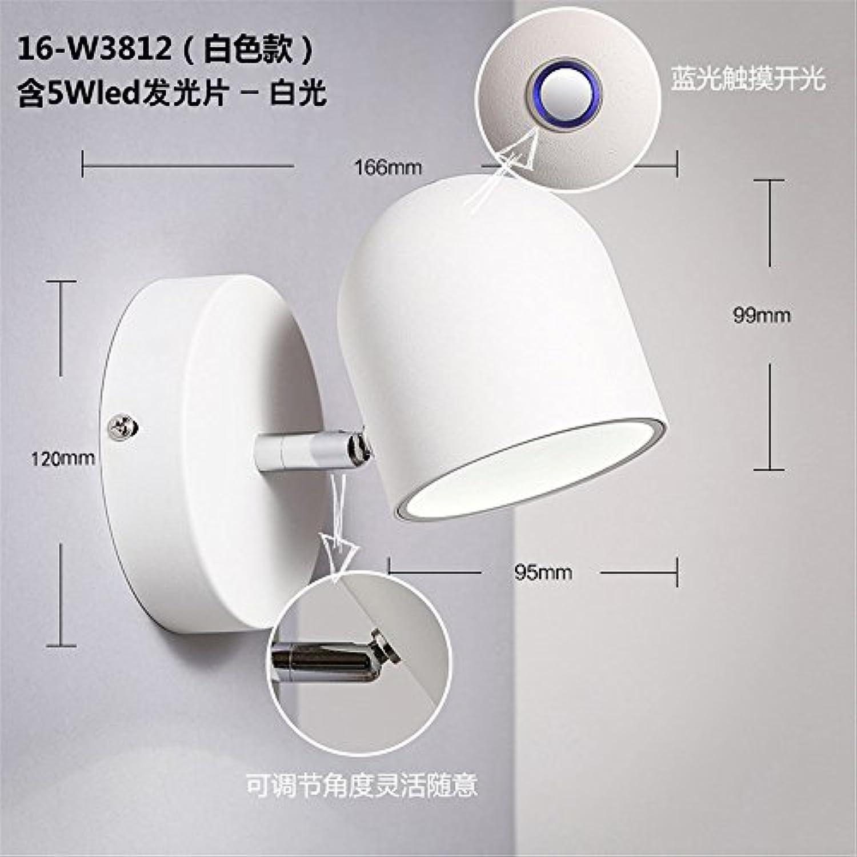 StiefelU LED Wandleuchte nach oben und unten Wandleuchten Leiter der Schlafzimmer Schminkleuchte Spiegel vorderen Leuchte wc - Light Touch einstellbar LED-Wandleuchte, Wei, weies Licht