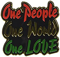 "REGGAE & RASTA, One People One World One Love, Officially Licensed Original Artwork, 2.4"" x 2.6"" - Metal Sticker DECAL ステッカー"