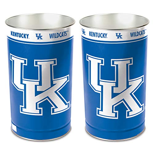 NCAA Kentucky Wildcats 15 Waste Basket, Team Color, One Size