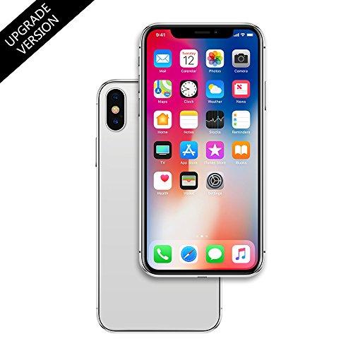 Raytonee Gefälschte Telefon Metallic-Modell [2nd Gen] Dummy-Display nicht funktionierende Replik Telefon Spielzeug für Phone X 10 (Silber Menü-Bildschirm)