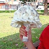 SN86NS Hecho a Mano Pedreria Perla sosteniendo Flores Novia Boda Leche Blanco Cinta con Preciosos Ramos Ramo de Novia Buque De Noiva
