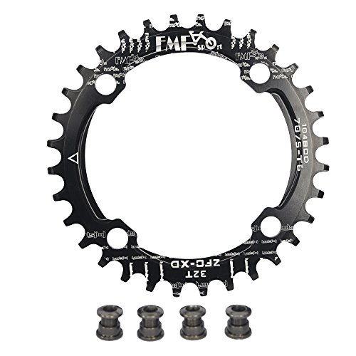 upanbike bicicleta Narrow Wide plato 104 BCD forma redonda sola cadena anillo dientes - dientes 32T, negro