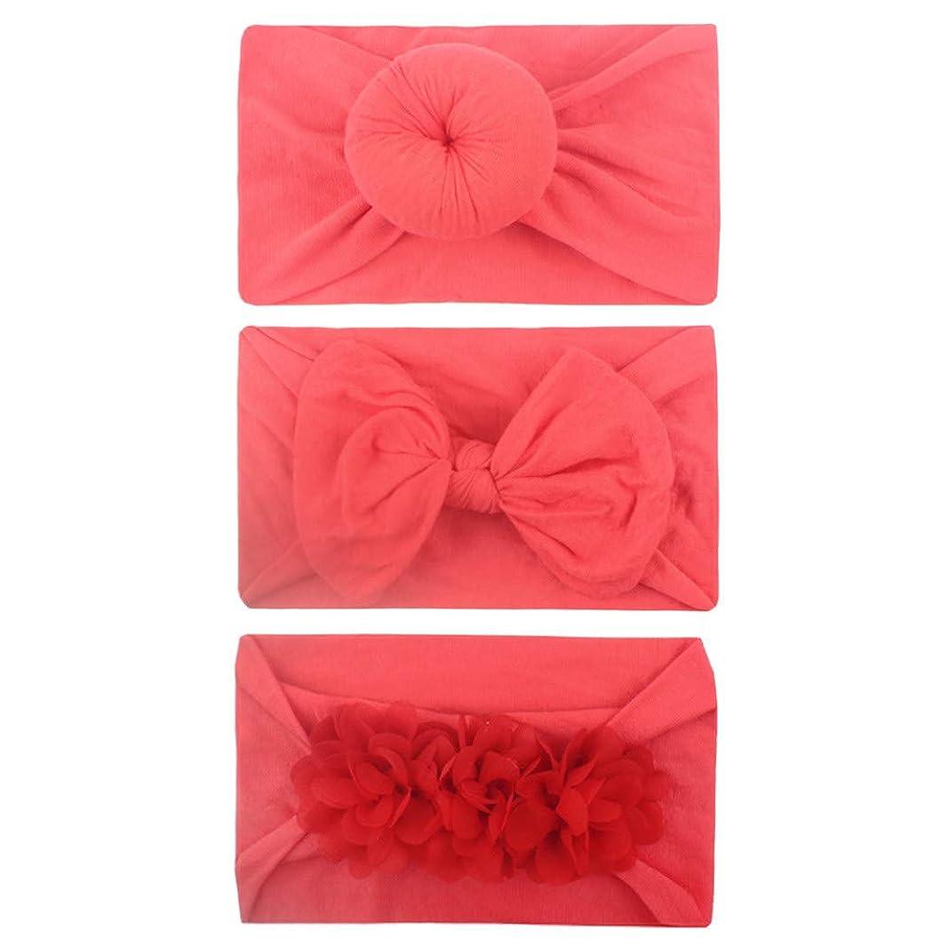 fe3698f77d5b8 Baby Headbands Bows Sayolala 3PCS Girls Toddler Turban Solid ...