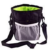 DIKOPRO Pet Treat Pouch, Dog Treat Pouch Easily Carries Pet Toys Poop Bag Dispenser Treat Tote Carry Kibble Snacks Hiking Toys Pack for Sport Durable Convenient Dog Training Accessory(Black)