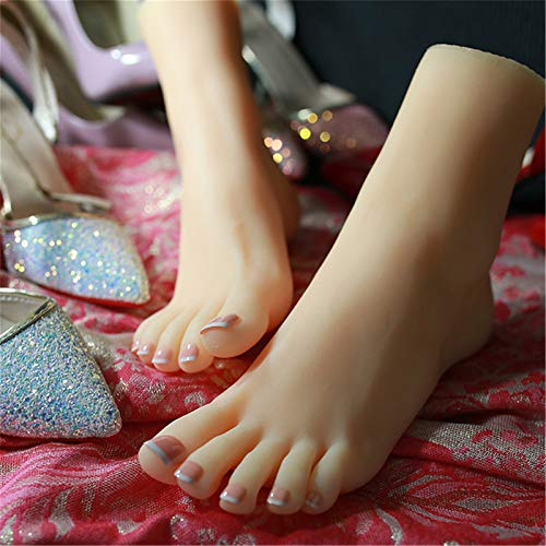 AFYH Foot Display Mannequin Female Display, The foot replicates a pair of beautiful female feet, 36A small ankle and realistic model for feetwear/jewelry shooting props,right foot
