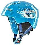 Uvex Manic Skihelm, Blue Snow Dog, 46-50 cm