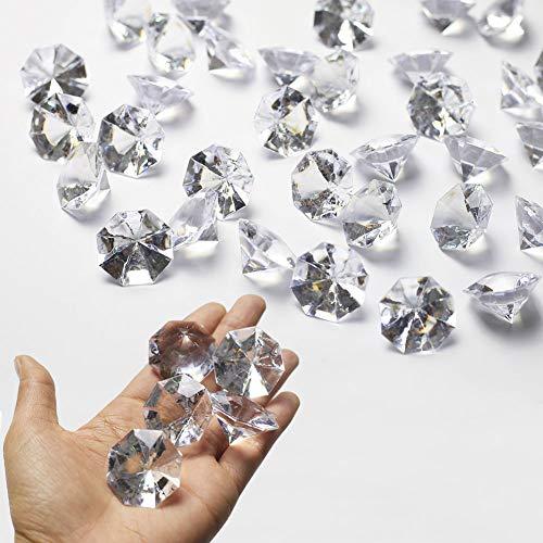 DAHI deko diamanten 35 Stück 32mm Acryl Kristall Tischdeko Streudeko Hochzeit Deko (32mm transparent)