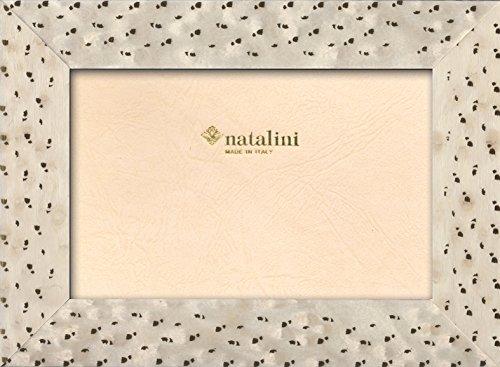 Natalini ATTICO 13X18 Bilderrahmen mit Unterstützung für Tisch, Tulipwood, Weiß, 13 X 18 X 1,5