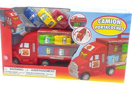 Dimasa Camión transportador de 16 automóviles, Viene con 7 automóviles Mini. Edades 3+