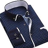 Men's Shirts Mens Shirts Long Sleeve Casual Shirt Business Men Dot Plaid Print Turndown Collar Long Sleeve Button Shirt Blouse Top XXXL Sh217