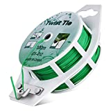 All-Purpose 328 feet PE-Coated Garden Plant Ties with Trimmer, Upgraded Twist Ties Plant Support Gardening Office Home Cable Organizing (328 feet/100 Meters, Green)