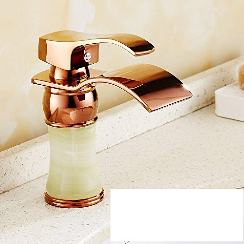 Gyps Faucet Basin Mixer Tap Waterfall Faucet Antique Bathroom Mixer Bar Mixer Shower Set Tap antique bathroom faucet The copper basin faucet hot and cold plunge antique pink gold,Modern Bath Mixer T