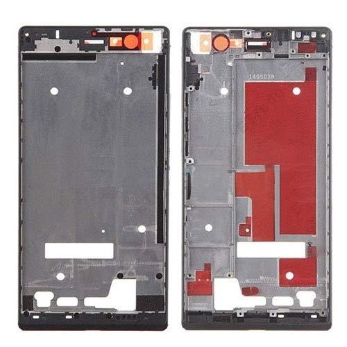 Spare Ersatz-Ersatzteile Frontgehäuse-Bildschirmrahmen-Blende für Huawei Ascend P7 (Farbe : Schwarz)