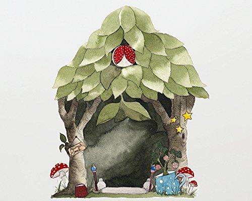 TinyFoxes Wandtattoo Feenhaus für die Elfen- und Feentür