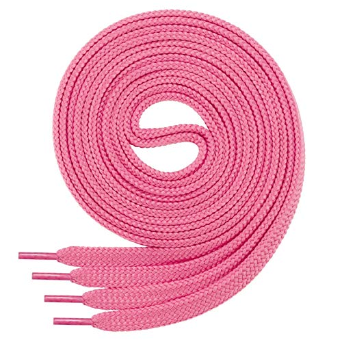 Di Ficchiano Flache SCHNÜRSENKEL für Sneaker und Sportschuhe-pink-120