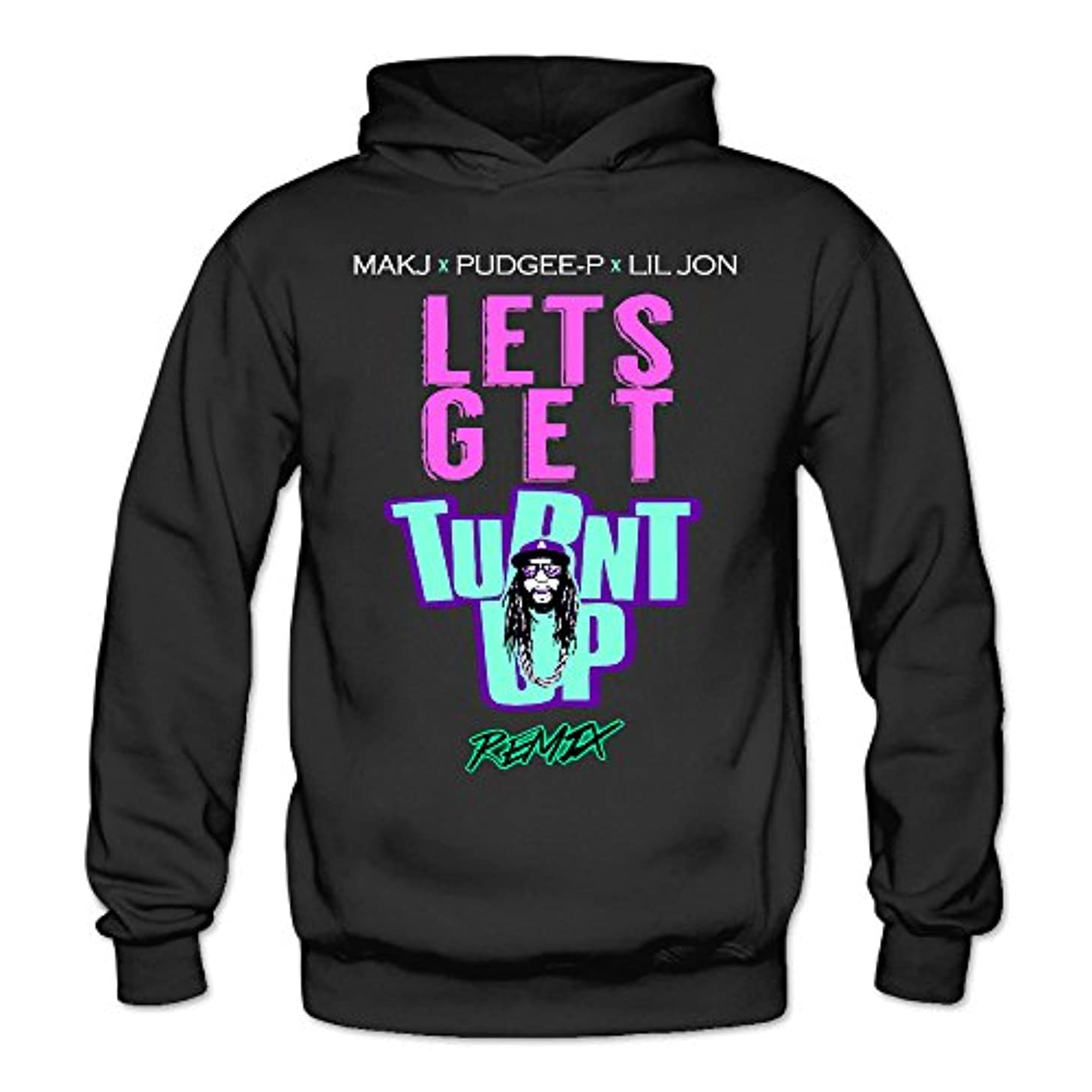 Womens Lil Jon - Lets Get Turnt Up FashionHoodies Sweatshirt Lightweight