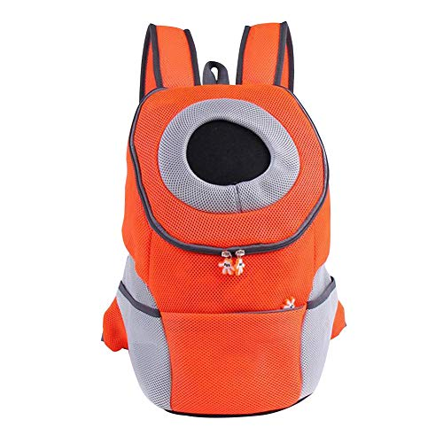 Dgaddcd Portátil Transpirabl Bolso Frontal Perro Gato Mochila Transportin Cachorro Mascota con Hombreras Tirantes Fácil de Ajustar para Viajar/Senderismo/Camping