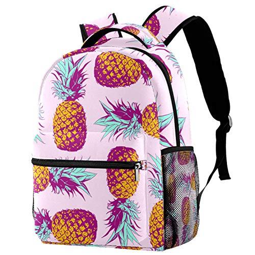 Rucksack, Ananas, Rosa, Schultasche, Reise, lässiger Tagesrucksack für Frauen, Teenager, Mädchen, Jungen