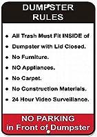 ゴミ箱のルールセキュリティサインブリキサインヴィンテージ面白い生き物鉄の絵金属板パーソナリティノベルティ