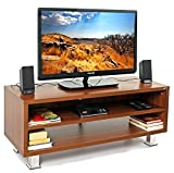 BLUEWUD Leo Engineered Wood TV Unit/Entertainment Center Table (Wenge)