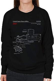 NASA Japanese Experiment Module Kibo Blueprint Women's Sweatshirt