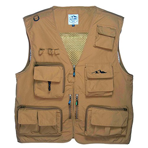 Outdoor Fly Fishing Vest with 16 Pockets. Breathable active wear Jacket for Fishing, Photography, Sports, Hiking, Cycling and Hunting. Lightweight Mesh Fabric - great to hold all your Gear!