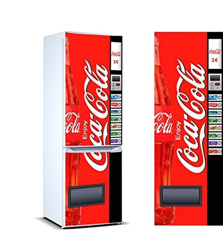 Vinyl kühlen Cocacola |200cm(breite) x 70cm(groß) | Vinyl für den wirtschaftlichen Kühlschrank und mit hoher Druckqualität