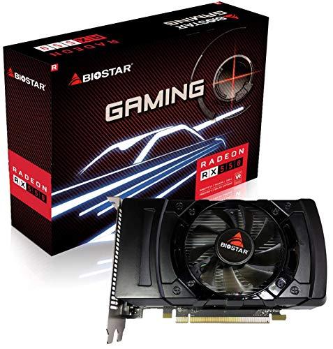 Biostar Radeon RX 550 4GB GDDR5 128-Bit DirectX 12 PCI Express 3.0 x16 DVI-D Dual Link, HDMI, DisplayPort, Gaming Edition