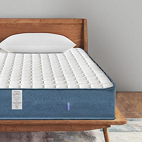 WOWTTRELAX King Size Mattress, 8 Inch 5FT King Size Pocket Sprung Memory Foam Mattress with Breathable Fabric, Medium Firm Feel - 9-Zone Orthopaedic Mattress