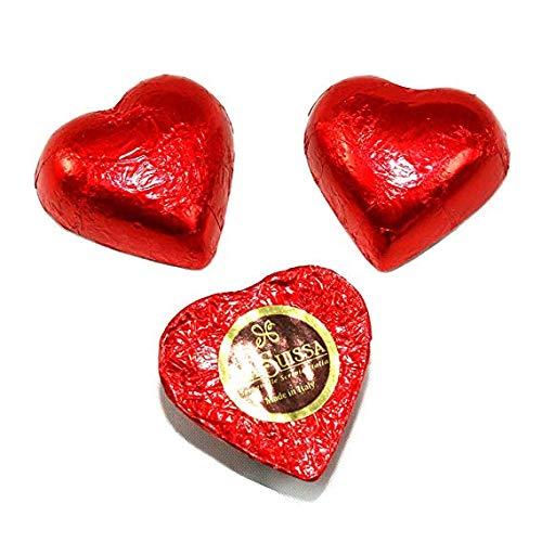 Cuori Rossi di Cioccolato Gianduia La Suissa g 500 - Praline di Cioccolato al Latte Ripieni di Morbida Crema Gianduia - Senza Glutine
