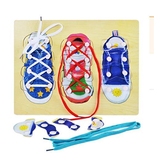 Linian Kinder Schuhe binden Training Pädagogisches Spielzeug für Jungen Mädchen