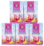 Teekanne frio Himbeere Zitrone, 18 Teebeutel 10er Pack