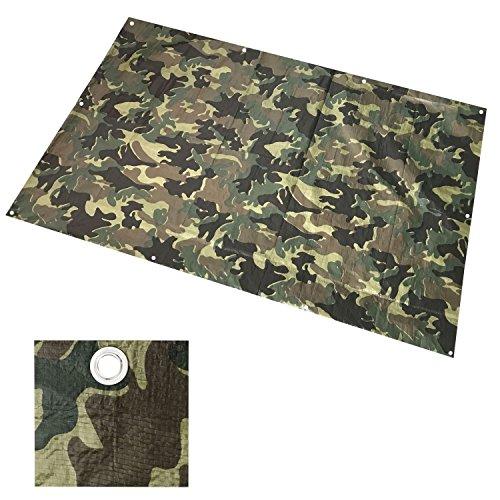 4 x 5m US ARMY Woodland Camouflage Abdeckplane, Gewebeplane, Bauplane, Gartenplane, Schutzplane mit Ösen - Wasserdicht