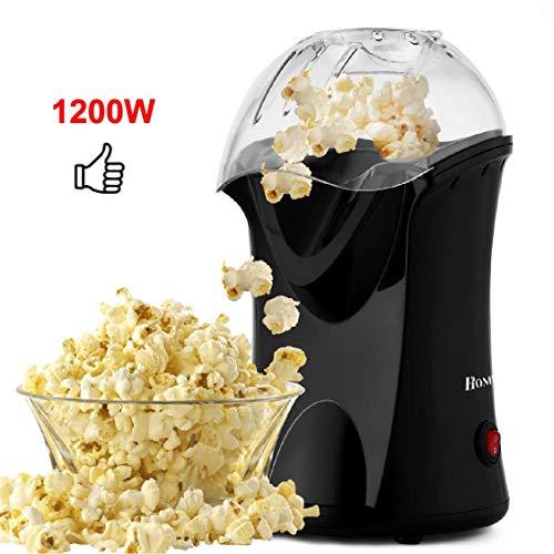 Popcorn Machine, 1200W Hot Air Popcorn Maker No Oil Popcorn Popper Machine With Measuring Cup (US Stock) …
