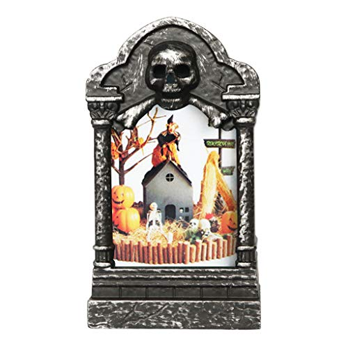 TEBI 4pcs Halloween Vintage Creative Tombstone LED Linterna de luz para Halloween Suministros de fiesta Decoración del hogar