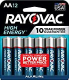 RAYOVAC AA 12-Pack HIGH ENERGY Alkaline Batteries,Blue/Sliver,No Flavor