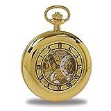 Rapport de Londres Chapado en Oro Demi Hunter Reloj de Bolsillo con 17Jewel Movimiento