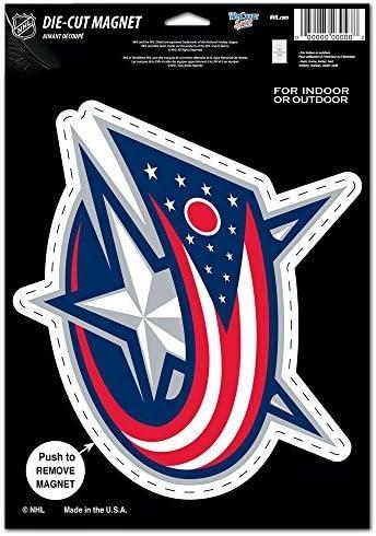 NHL Columbus Blue Jackets 88503010 Die Magnet Fort Worth Mall Luxury Cut Logo Small B