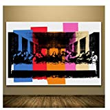Suuyar Andy Warhol Detail of The Last Supper Canvas Painting Classic Art Wall Picture for Living Room Bedroom Modern Decoration-60X90Cm No Frame